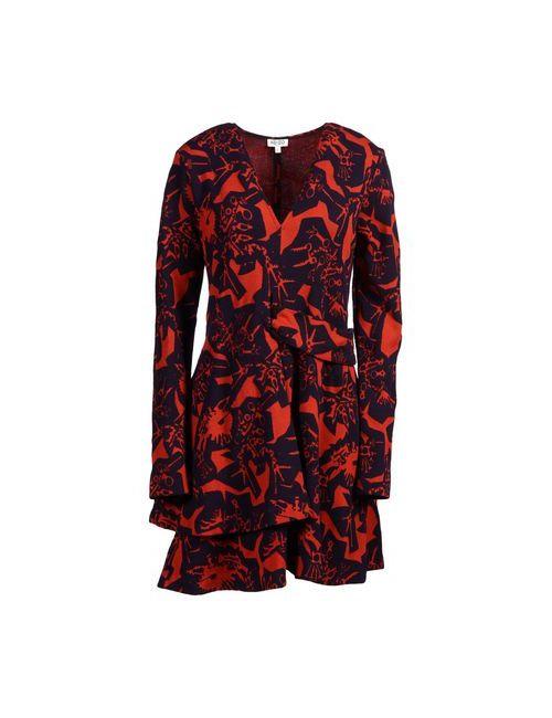 Kenzo | Женское Красное Короткое Платье