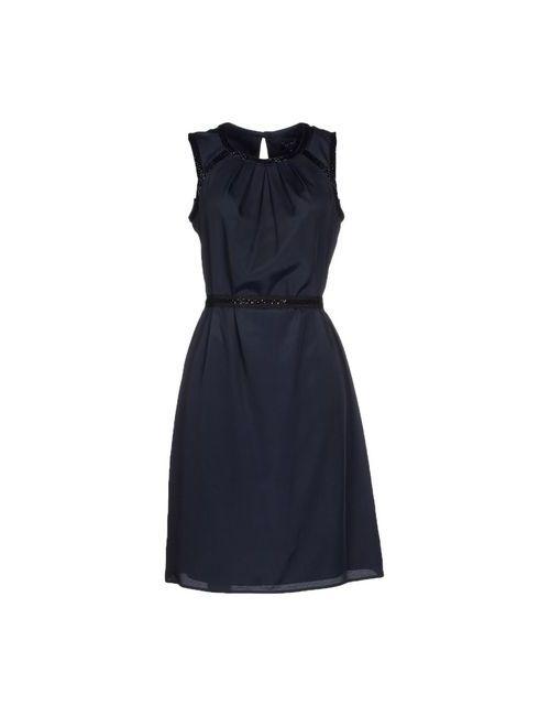 ARMANI JEANS | Женское Синее Платье До Колена