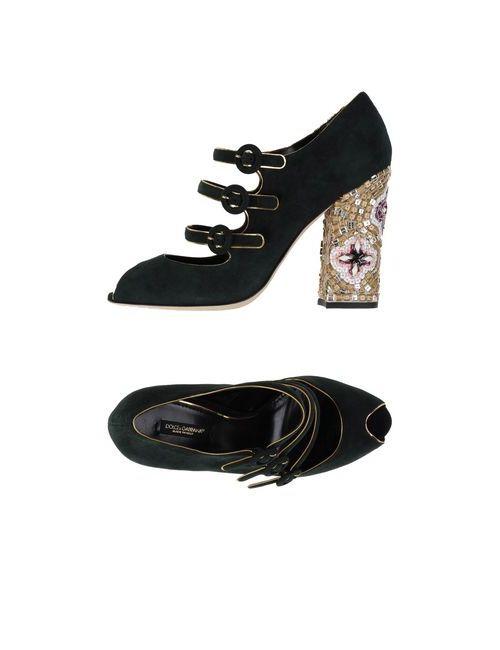 Dolce & Gabbana | Женские Зелёные Туфли