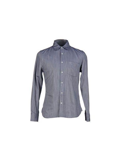 Glanshirt | Мужская Синяя Джинсовая Рубашка