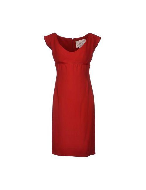 Dsquared2 | Женское Красное Платье До Колена