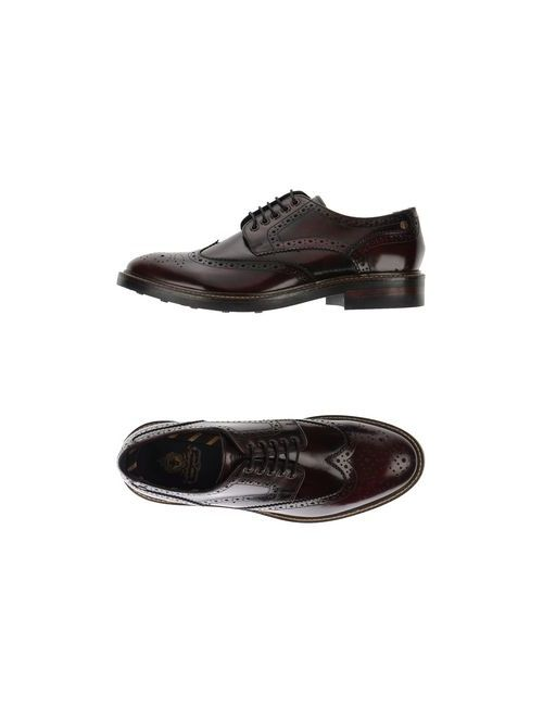 Base London   Мужская Баклажанная Обувь На Шнурках