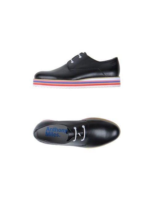 Anthony Miles | Мужская Чёрная Обувь На Шнурках