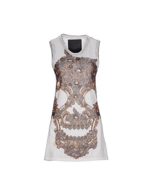 Philipp Plein Couture | Женское Слоновая Костящее Короткое Платье