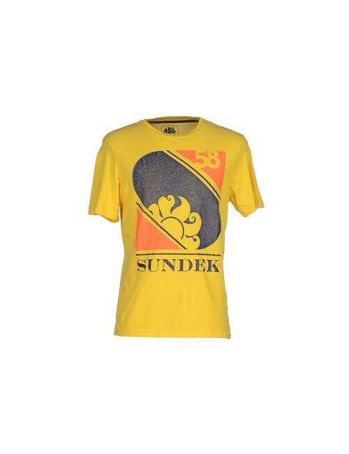 Sundek | Мужская Жёлтая Футболка