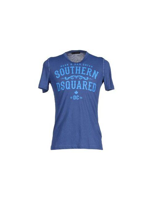 Dsquared2 | Мужская Синяя Футболка