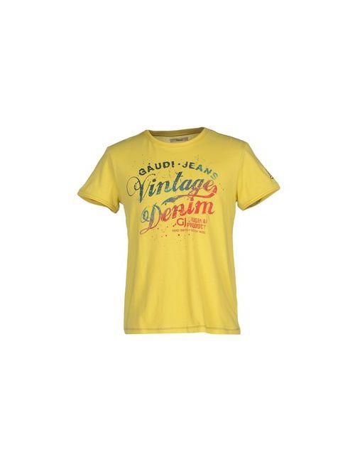 Gj Gaudi' Jeans | Мужская Жёлтая Футболка