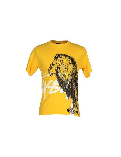Stussy | Мужская Жёлтая Футболка