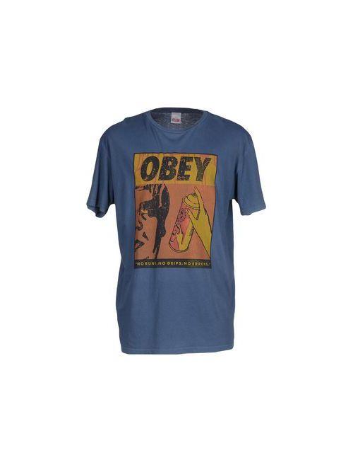 Obey | Мужская Синяя Футболка