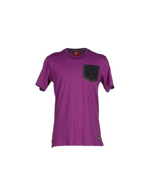 Nike   Мужская Розовато-Лиловая Футболка