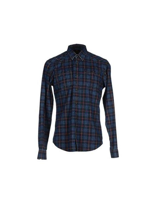 SCOTCH & SODA | Мужская Синяя Джинсовая Рубашка