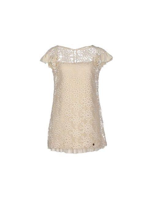 Mangano | Женское Бежевое Короткое Платье