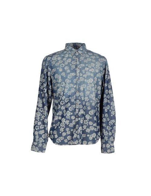 Sun 68 | Мужская Синяя Джинсовая Рубашка