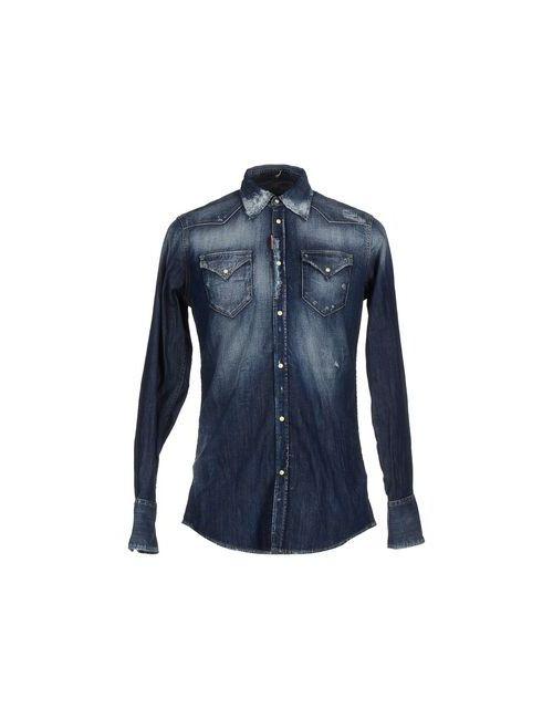 Dsquared2 | Мужская Синяя Джинсовая Рубашка