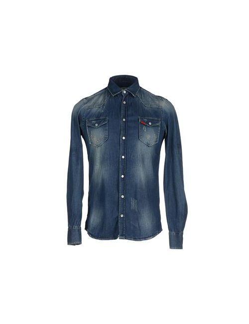 Liu •Jo Jeans | Мужская Синяя Джинсовая Рубашка