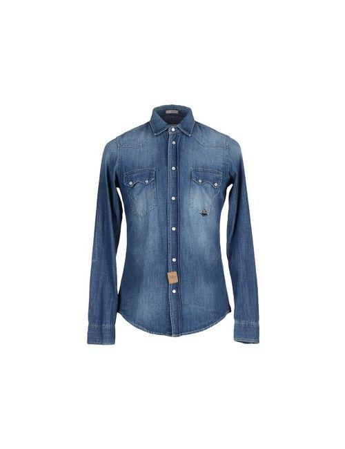 Roÿ Roger'S | Мужская Синяя Джинсовая Рубашка