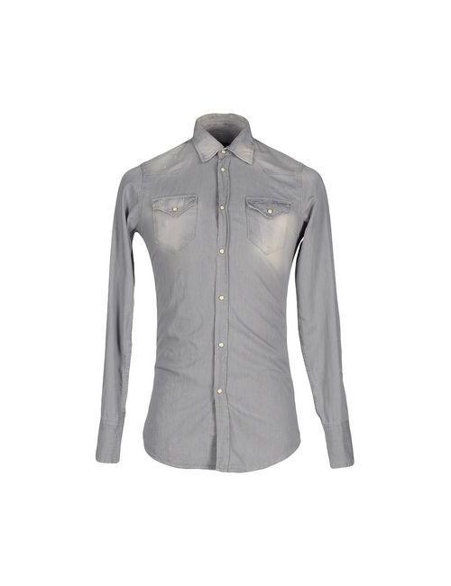 Dsquared2 | Мужская Серая Джинсовая Рубашка