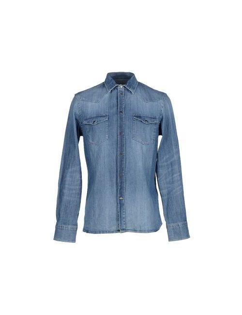 Dondup   Мужская Синяя Джинсовая Рубашка
