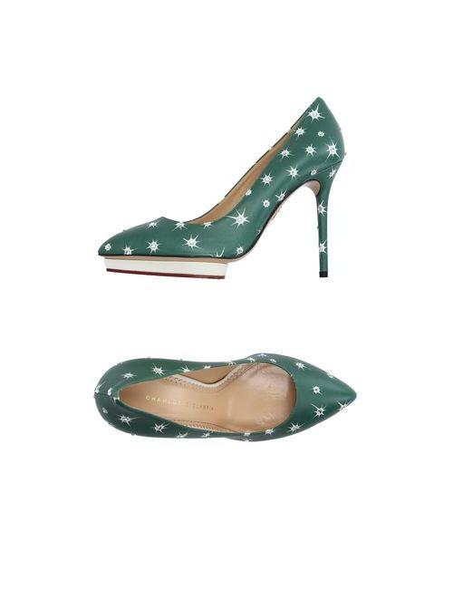 Charlotte Olympia | Женские Зелёные Туфли