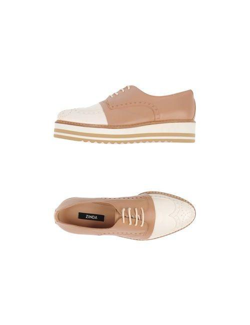 Zinda | Женская Телесная Обувь На Шнурках
