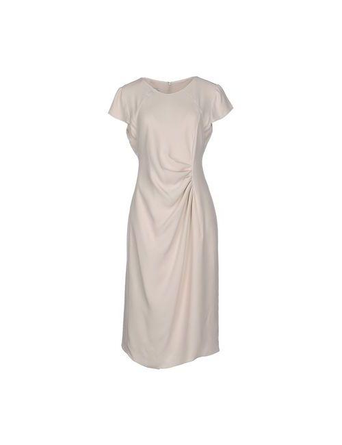 Armani Collezioni   Женское Бежевое Платье До Колена