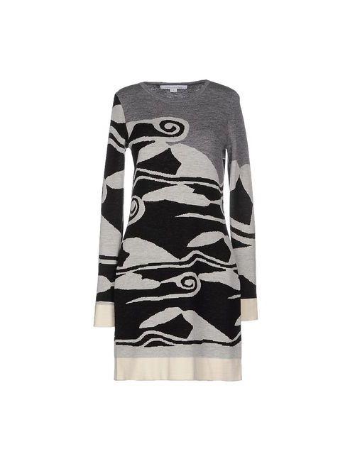 Diane Von Furstenberg | Женское Серое Короткое Платье