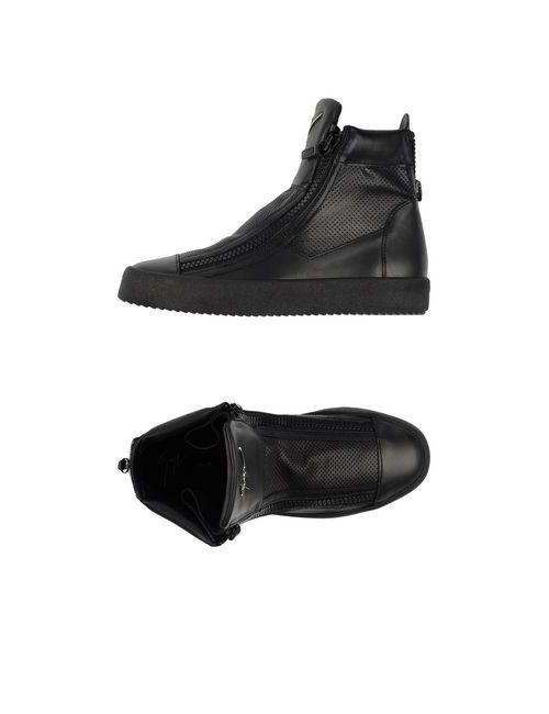 Giuseppe Zanotti Design | Женские Чёрные Высокие Кеды И Кроссовки