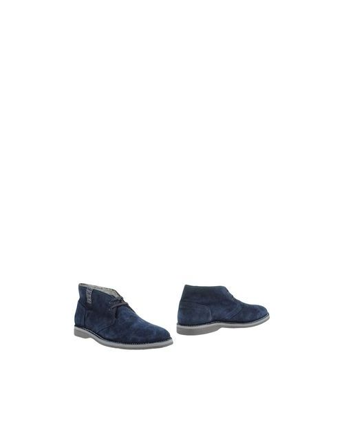 Bikkembergs | Мужские Синие Полусапоги И Высокие Ботинки