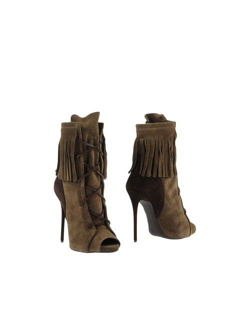 Giuseppe Zanotti Design | Женские Зелёные Полусапоги И Высокие Ботинки