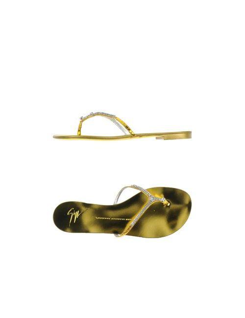 Giuseppe Zanotti Design | Женские Жёлтые Вьетнамки