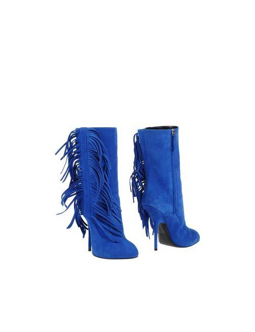 Giuseppe Zanotti Design | Женские Синие Полусапоги И Высокие Ботинки