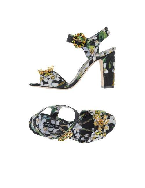 Dolce & Gabbana | Женские Чёрные Сандалии