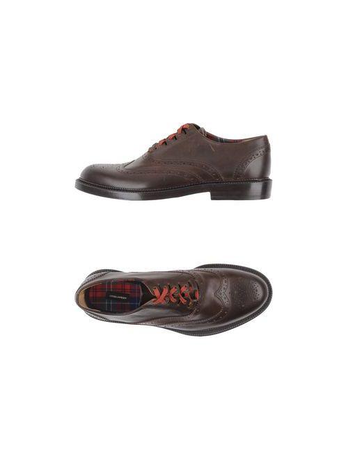Dsquared2 | Мужская Коричневая Обувь На Шнурках