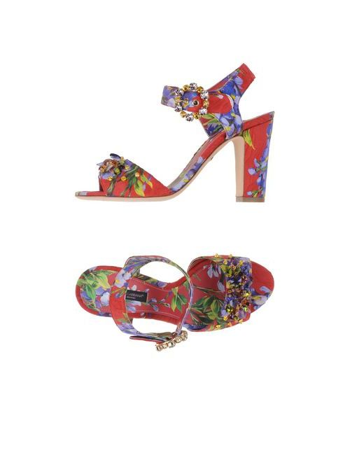 Dolce & Gabbana | Женские Зелёные Сандалии