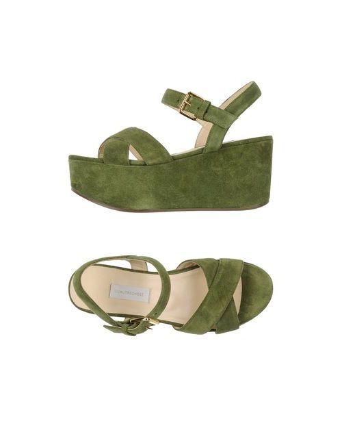 L' Autre Chose | Женские Зелёные Сандалии