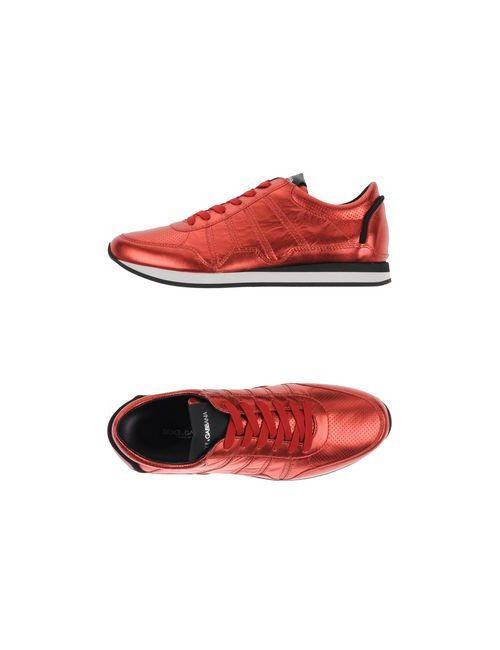 Dolce & Gabbana | Женские Красные Низкие Кеды И Кроссовки