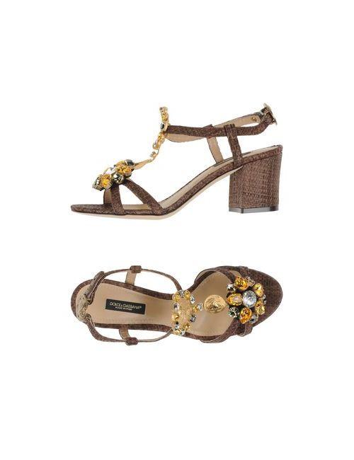 Dolce & Gabbana | Женские Коричневые Сандалии