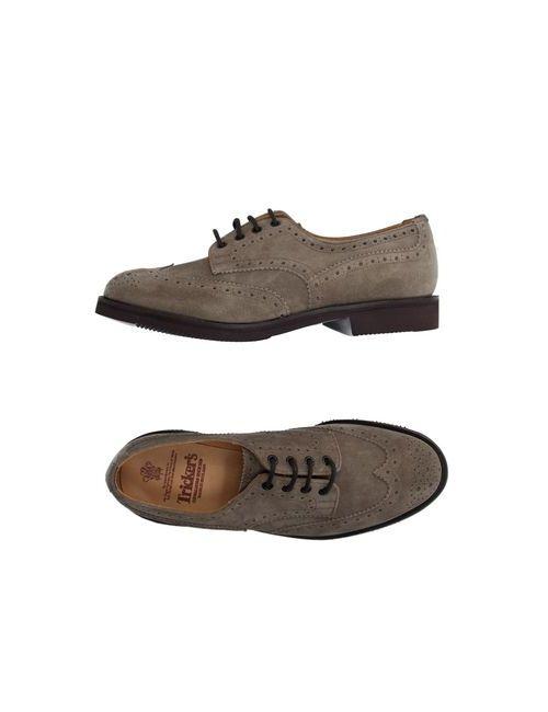 Tricker'S | Мужская Хаки Обувь На Шнурках