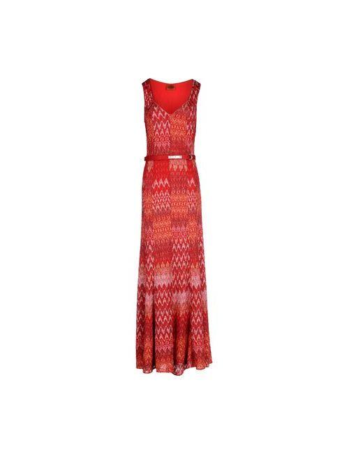 Missoni | Женское Красное Длинное Платье