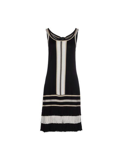 Clips   Женское Чёрное Платье До Колена