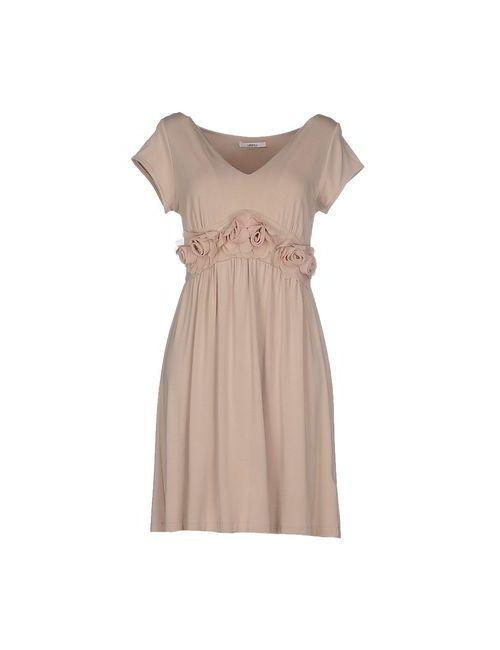 LUCKY LU  MILANO | Женское Бежевое Короткое Платье