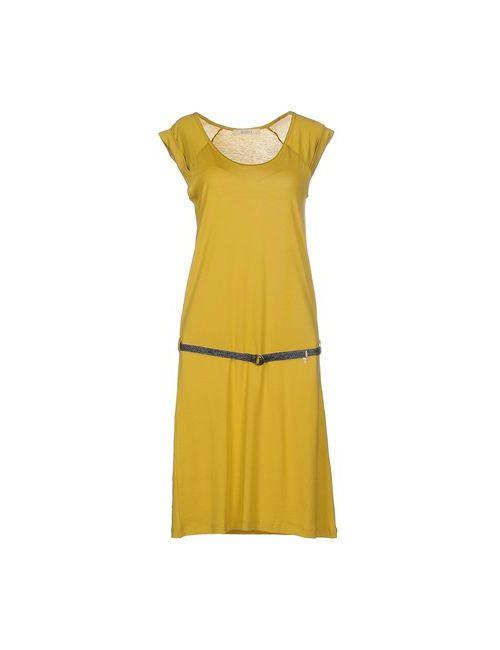 Sessun | Женское Охра Платье До Колена