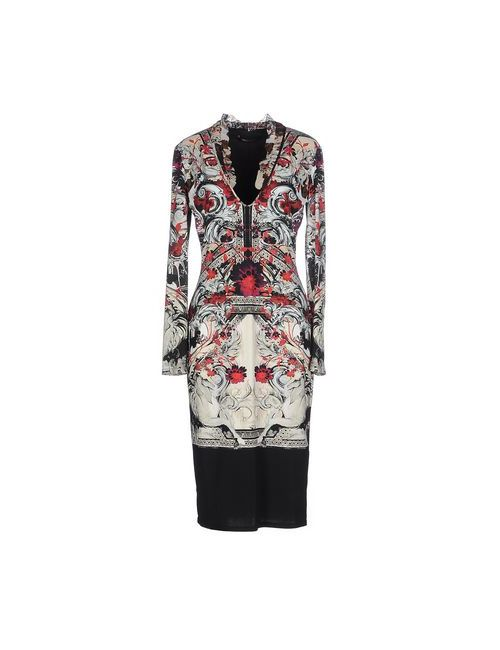Roberto Cavalli | Женское Серое Платье До Колена