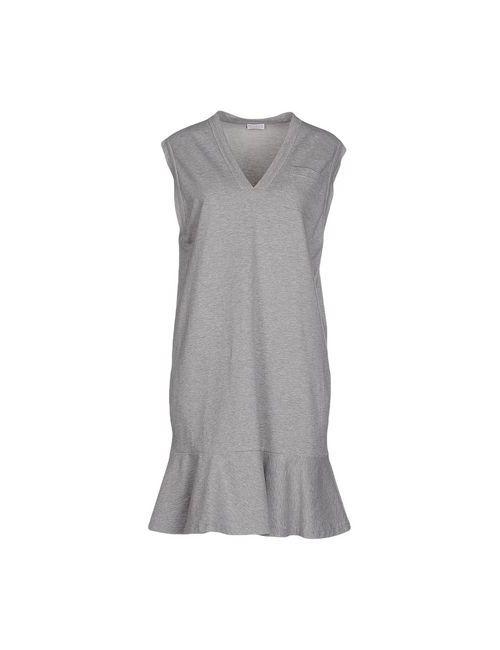 Brunello Cucinelli   Женское Серое Короткое Платье