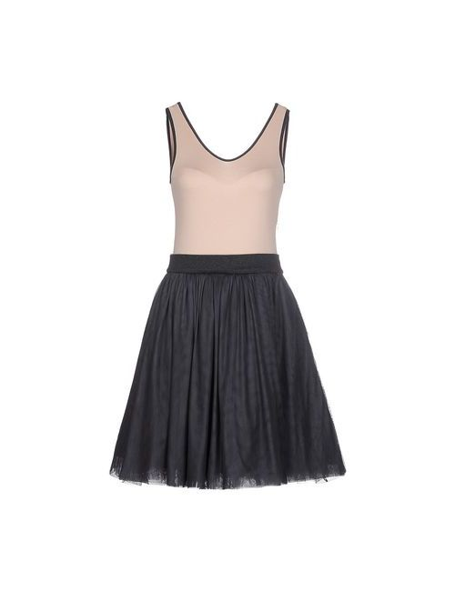 Brunello Cucinelli   Женское Бежевое Короткое Платье