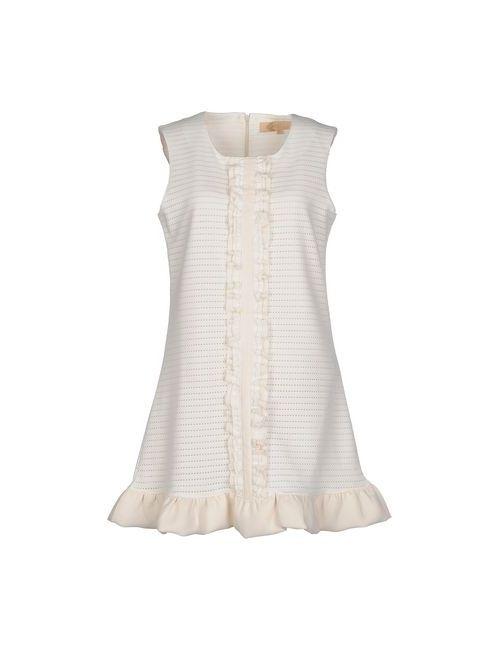 Bonsui | Женское Слоновая Костящее Короткое Платье