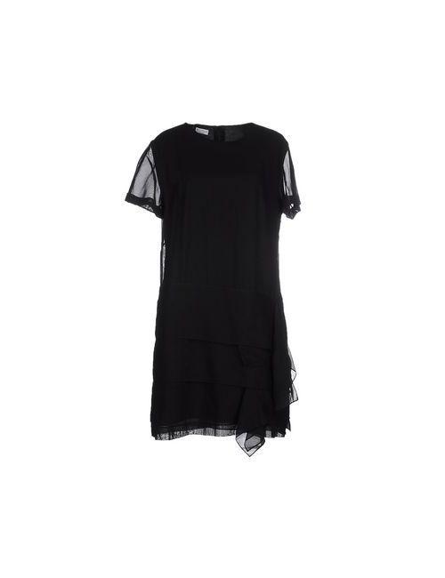 Brunello Cucinelli | Женское Чёрное Короткое Платье
