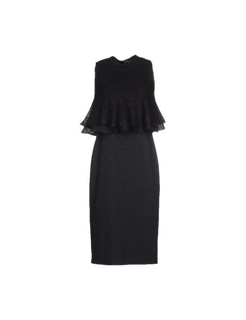 Brunello Cucinelli | Женское Серое Платье До Колена