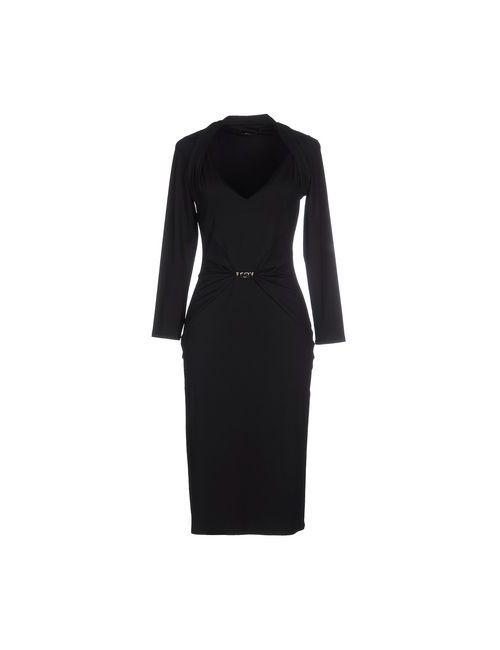 Roberto Cavalli | Женское Чёрное Платье До Колена