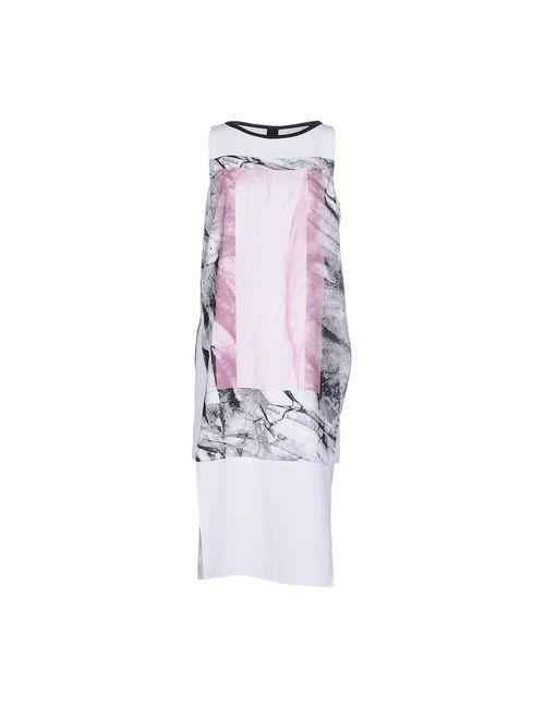 Helmut Lang | Женское Белое Платье До Колена